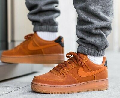 best website 9fcdb 5860f New NIKE Air Force 1 Low LV8 TXT Shoes Mens maroon tan all sizes