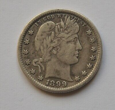 1899 USA Quater Dollar Silver Coin High Grade
