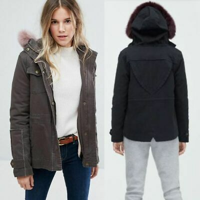 7e022210f52 UGG CONVERTIBLE FIELD Parka With Toscana Shearling Trim Black -Size ...