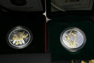 2007 50 Cents Sterling Silver,Golden Forget-me-Not, 2003 50 cents  Daffodil
