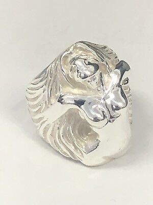 925 Sterling Silver Lady Long Hair Mens Ring Great Details Heavy 25g NEW Sz 11/