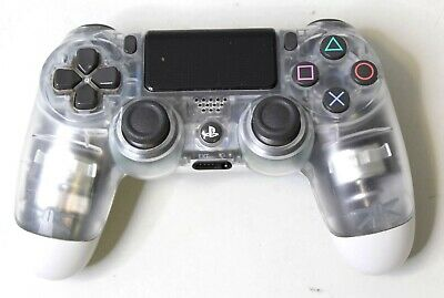 Sony Playstation 4 PS4 Dualshock 4 Controller - Crystal Clear TESTED CECH-ZCT1U