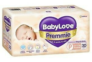 Babylove Nappies Preemie Size 30 Pack