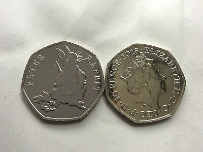 PETER RABBIT 50p COIN – 2018 NEW & UNCIRCULATED FROM SEALED BAG BEATRIX POTTER