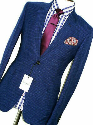 Bnwt Mens Paul Smith The Mainline London Gingham Check Slim Fit Suit 38R W32
