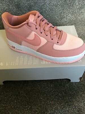 Nike Air Force 1 Upstep Premium Trainers In Pink Suede at