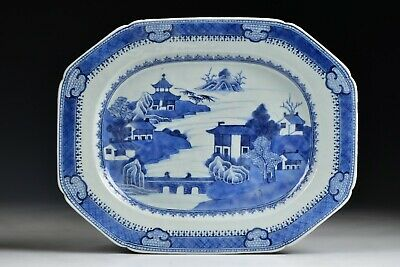 18th Century Chinese  Blue & White  Porcelain Platter  Fine Quality