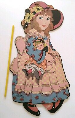 Vintage Betsy Bobbit Chicago Novelty Co Walking Paper Doll Lithograph Die Cut