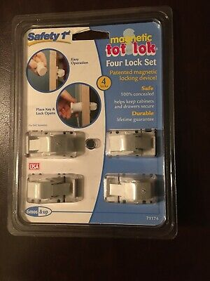 Safety 1st Magnetic Tot Lok 4 Lock Set -UPC: 052181711749