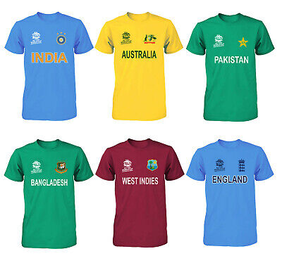 Cricket World Cup 2019 Shirt Fan Supporters T Shirt Cotton All Teams