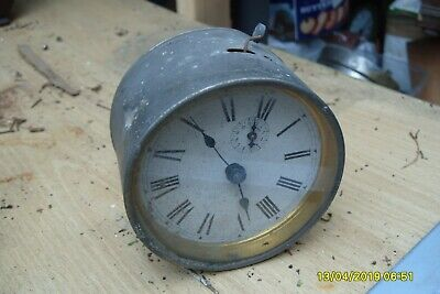clock parts VINTAGE ALARM  CLOCK WITH  SECOND HAND SPARES ONLY