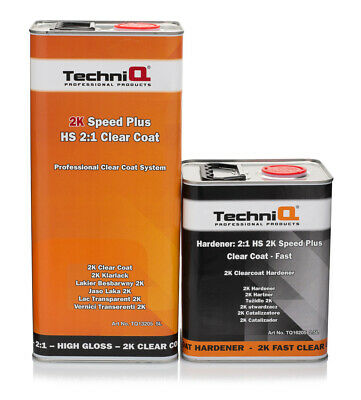 2K HS CLEAR CLEARCOAT 7.5LTR LACQUER / ACTIVATOR KIT Speed Plus TechniQ Kit