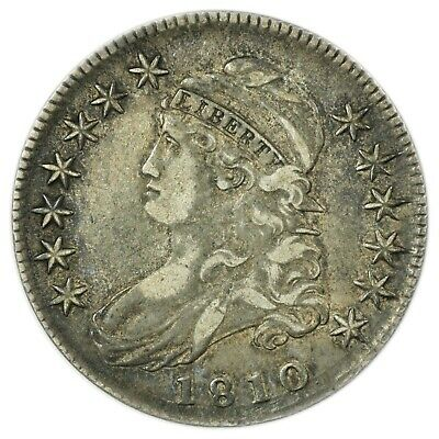 1810 Capped Bust Half Dollar, Rare Early Type Silver Coin [4174.166]