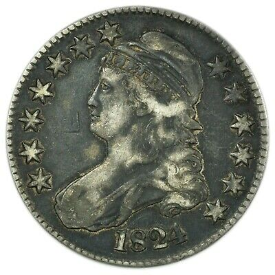 1824/1 Capped Bust Half Dollar, Rare Early Type Silver Coin [4174.171]
