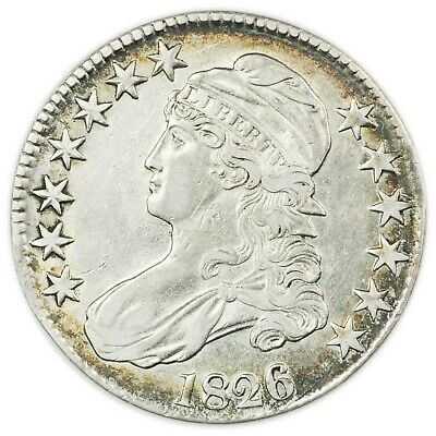 1826 Capped Bust Half Dollar, Early Type Silver Coin [4174.173]