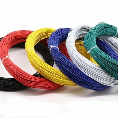UL1015 Stranded Wire 24AWG 11//0.12TS Auto PVC Equipment Hookup Cable 600V 105°C