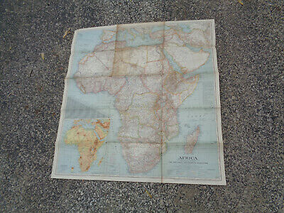 """1943 Map of Africa-29"""" x 31"""""""