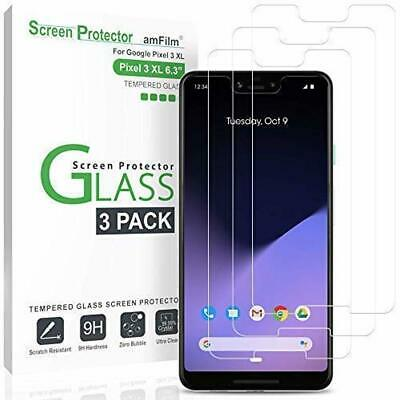 amFilm Glass Screen Protector for Google Pixel 3 XL (3 Pack) Tempered Glass Scre