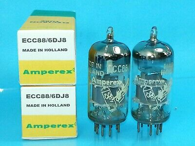 Amperex Bugle Boy 6Dj8 Ecc88 Vacuum Tube 1959 Large O Matched Pair Warm Tone