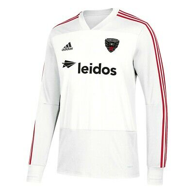 7a8a6e0ad D.C. United MLS Adidas Men s White Climacool Long Sleeve Training Jersey