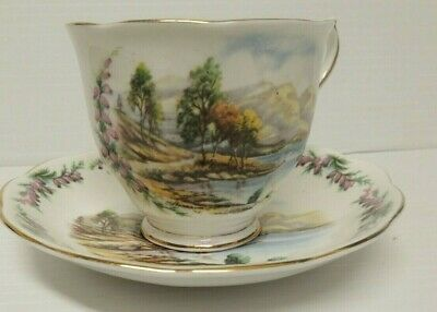 Royal Albert Traditional Songs Series Road To The Isle Tea Cup and Saucer Bone