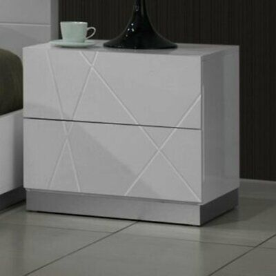Jm Furniture Naples Contemporary 2 Drawer Nightstand