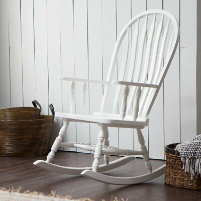 Belham Living Windsor Indoor Wood Rocking Chair - White