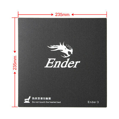 2pcs Original Ender 3 3D Printer Hot Bed Sticker Surface Plate 235mmX235mm