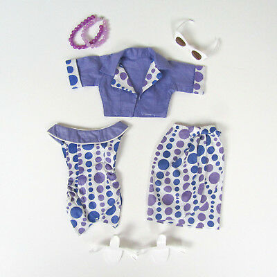Vtg 1950s Deluxe Reading Candy Doll Capri Dress Sunglasses Heels Shoes Necklace