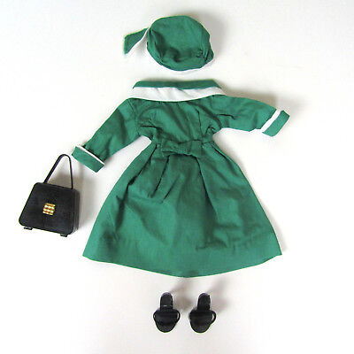Vtg 1950s Deluxe Reading Candy Doll Green Dress 50s Hat Purse High Heel Shoes