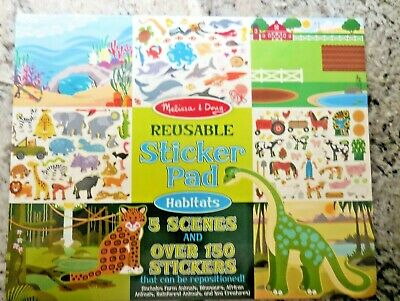 Melissa Doug Habitats Reusable Sticker Pad 14 13 Picclick