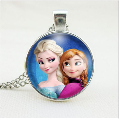 Hot FROZEN PENDANT Silver Plated CHAIN NECKLACE ROYAL PRINCESS