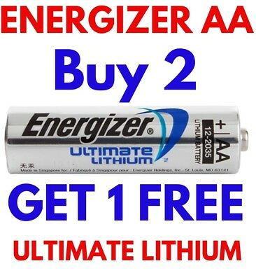 **EXPIRY 2038** 1 x ENERGIZER ULTIMATE AA LITHIUM BATTERIES LR6 L91 NEW 1.5v NEW