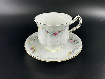 Paragon Spring Garland Tea Cup and Saucer Set Bone China England