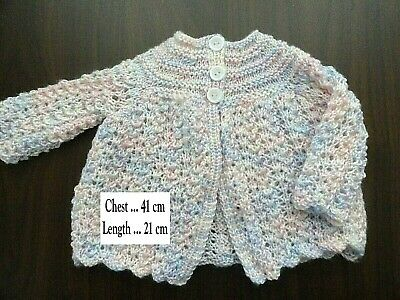 Baby Hand Knitted  Multi Coloured Jacket... Chest : 41 Cm