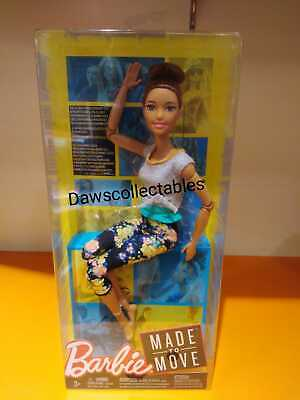 NRFB Brand New & HTF Barbie Sold Out Made to Move Yoga Barbie Wave 2- Tan
