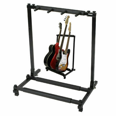 3 Way Multi Guitar Rack Padded Holder Stand Electric Acoustic Bass