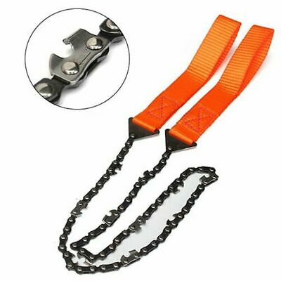Outdoor Survival Chain Saw Hand ChainSaw Cutting Camping EDC Tool Pocket Gear