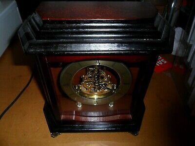 Nice Large Wooden Mantle Clock Here In Working Order
