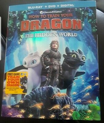 How to Train Your Dragon The Hidden World Blu Ray/DVD 2019 Movie 3 (No Digital)
