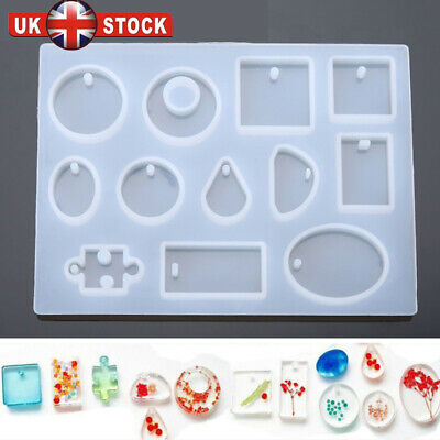 Silicone Mould Mold for DIY Resin Round Necklace jewelry Pendant Making tool 12X