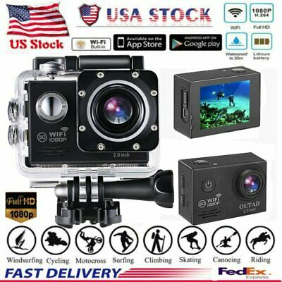 4K 1080P WiFi Ultra HD Action Sports Camera Waterproof DV DVR Camcorder Cam USA