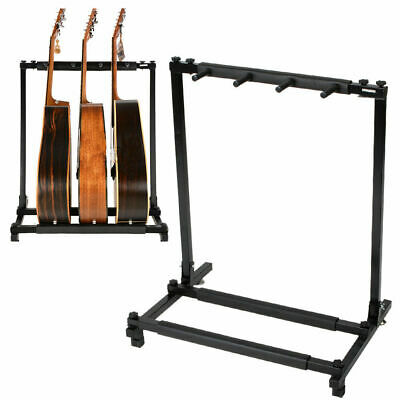 3 Holder Guitar Stand Foldable Display Rack Stand for Bass Acoustic Guitar
