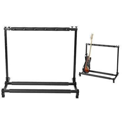 5 Holder Guitar Stand Foldable Display Rack Stand for Bass Acoustic Guitar