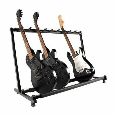 9 Way Multi Guitar Stand Foldable Acoustic Electric Electric Bass Guitar Rack