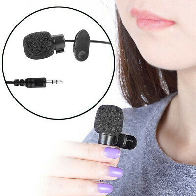 Portable Mini 3.5mm Clip On Lapel Lavalier Handfree Microphone Lecture Teaching