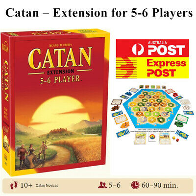 The Settlers of Catan Cards Game 5th Edition Extension 5-6 Players Melbourne AU