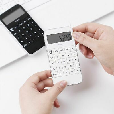 Mini Electronic Digit Calculator Fashion Black and White  School Home Office