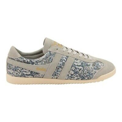 9d500cde261d7 Gola Women's Bullet Liberty VM Sneaker Light Grey/Multi Textile/Cow Suede  Size