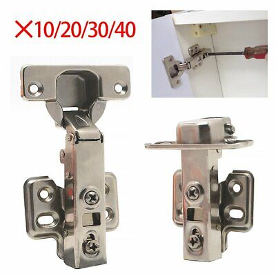 10/20/30/40PC SOFT CLOSE HINGES Kitchen Closing Door Hinge Cabinet Cupboard 35mm